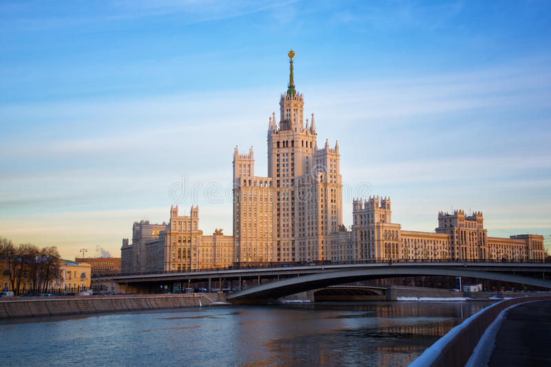 High-rise building on Kotelnicheskaya Embankment royalty free stock photos