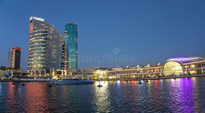High-rise Building Near Body of Water during Night Time stock photos