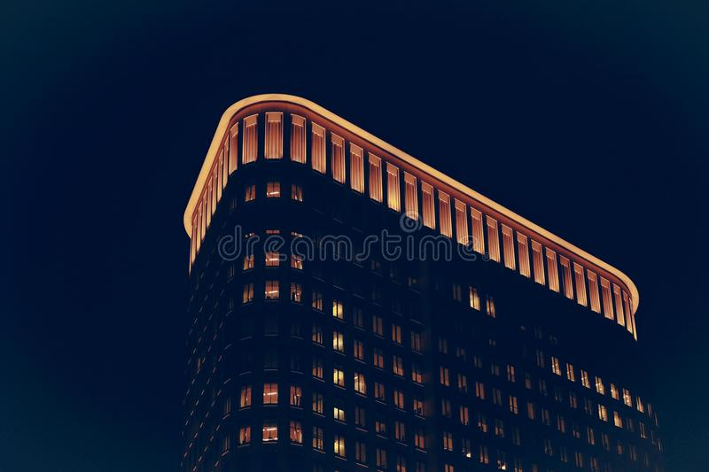 High Rise Building At Night Free Public Domain Cc0 Image