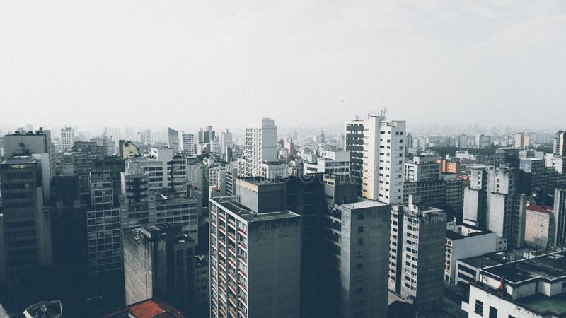 High Rise Building Under Cloudy Sky at Daytime royalty free stock photo