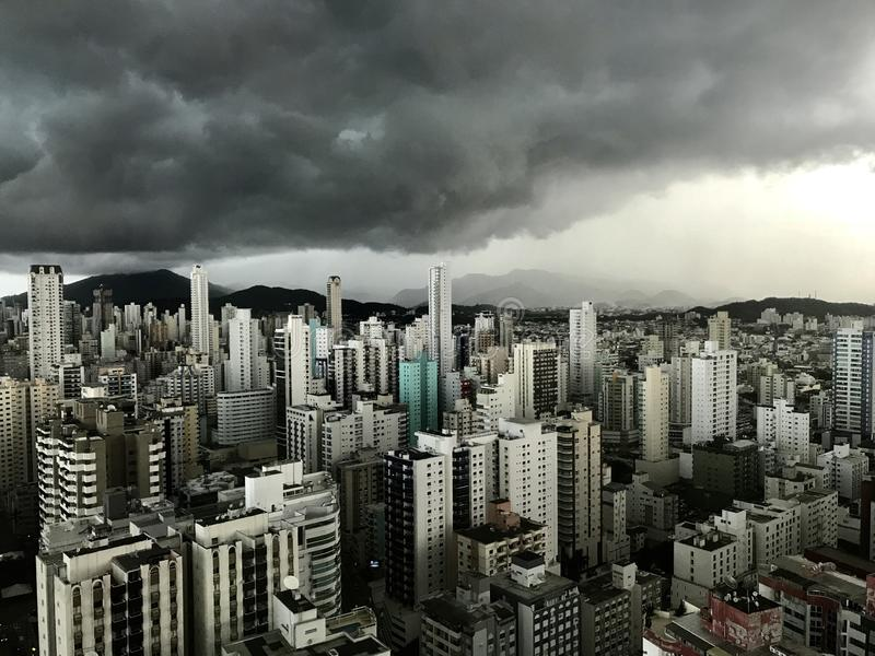 High-rise Building Under Cloudy Sky at Daytime stock images