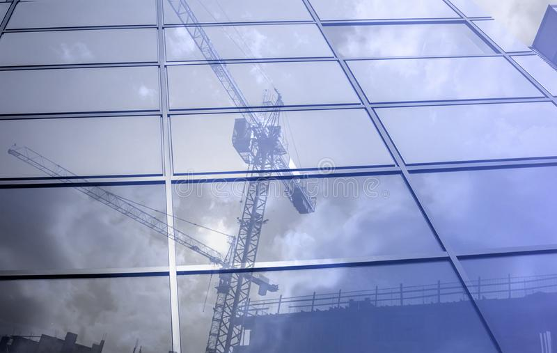 High rise Building Under Construction. Construction site. High rise Building Under Construction royalty free stock images