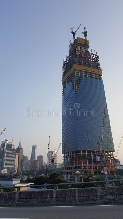 High Rise Building Under Construction stock image