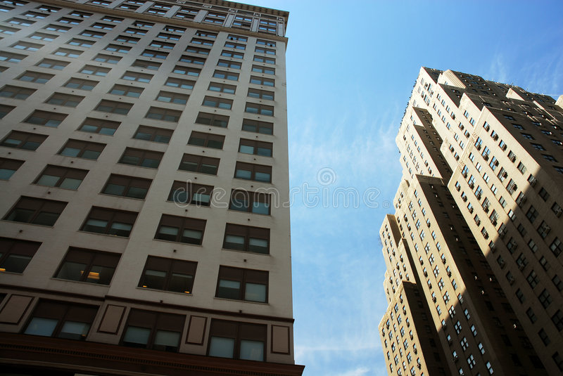High rise buildings. High rise multi-story buildings in New York city royalty free stock photography
