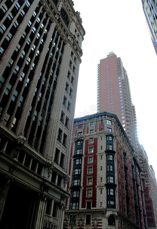 High-rise buildings of different styles in Manhattan. USA 2017. High-rise buildings of different styles in Manhattan. United States, New York, 2017 stock photos