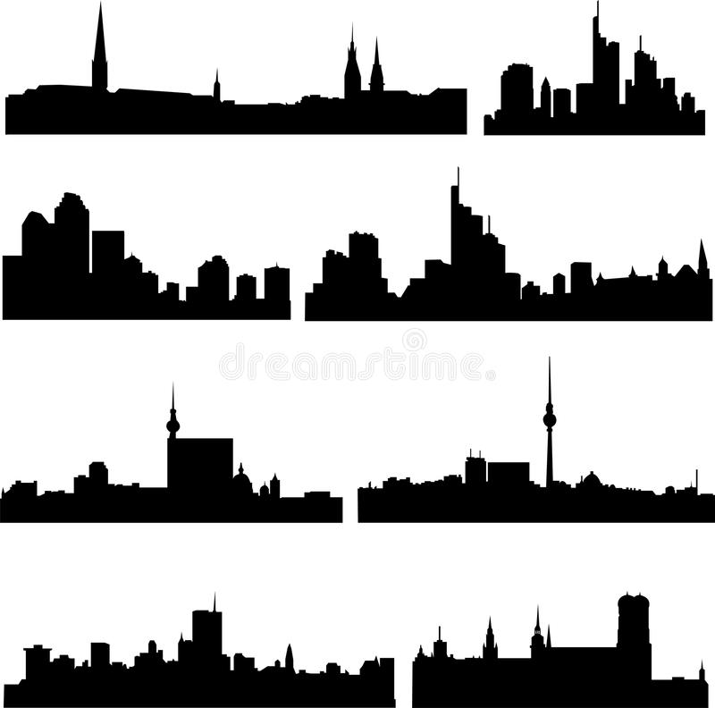 The High-rise Buildings In German Royalty Free Stock Image