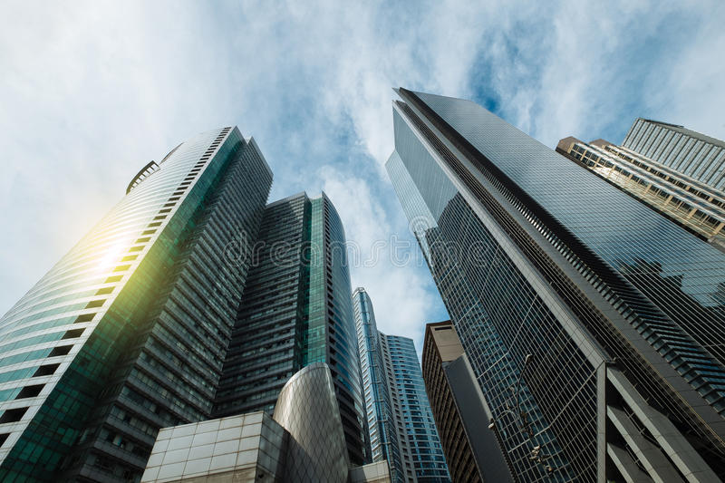 High rise buildings in Manila royalty free stock photo