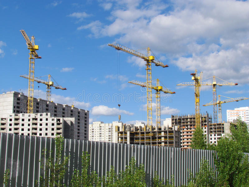 Download High-rise Buildings Under Construction In Progress. Stock Photo - Image: 25158646