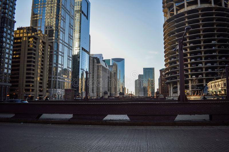 High Rise Buildings Under White Clouds and Blue Sky royalty free stock photo