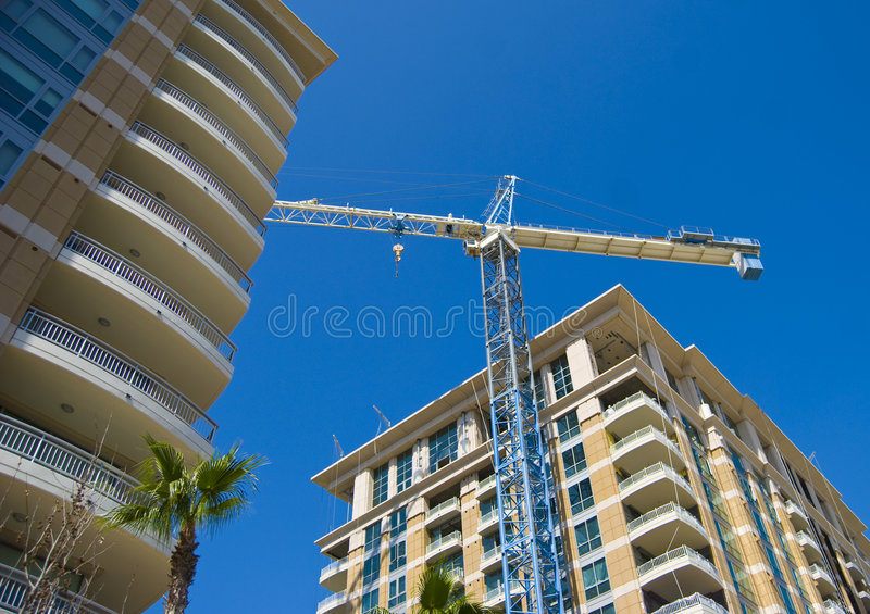 High rise construction royalty free stock image