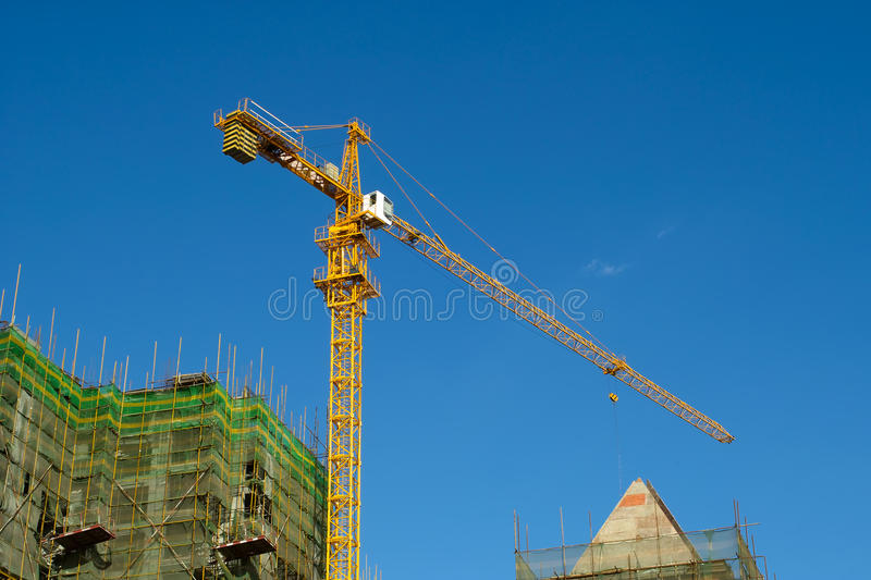 Download High Rise Construction Site Stock Image - Image: 21606771