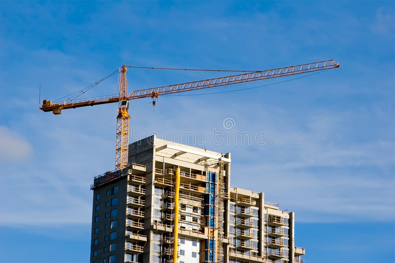 Download High Rise Crane stock photo. Image of downtown, corner - 6252364