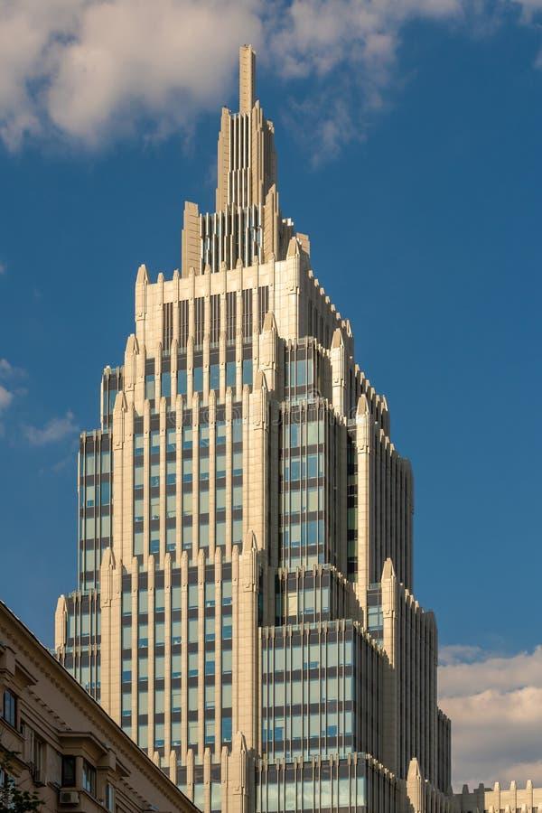 high-rise de bouw met een spits in Moskou Het zaken-centrum ' Armory' Neo-Stalinist stijl royalty-vrije stock foto