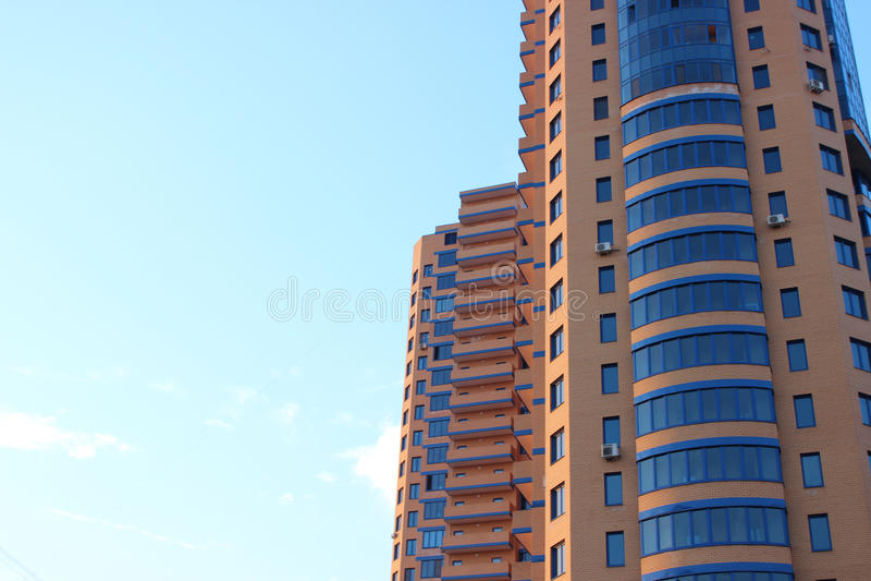 High-rise de bouw in MosÑ  ow royalty-vrije stock fotografie