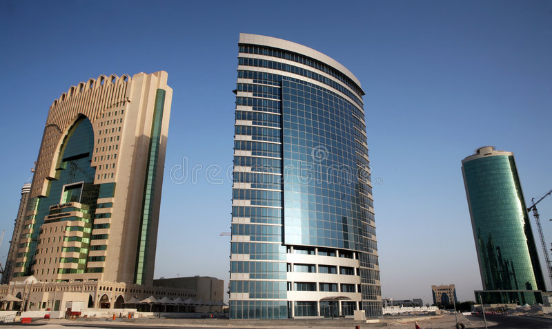 High-rise de Doha images stock
