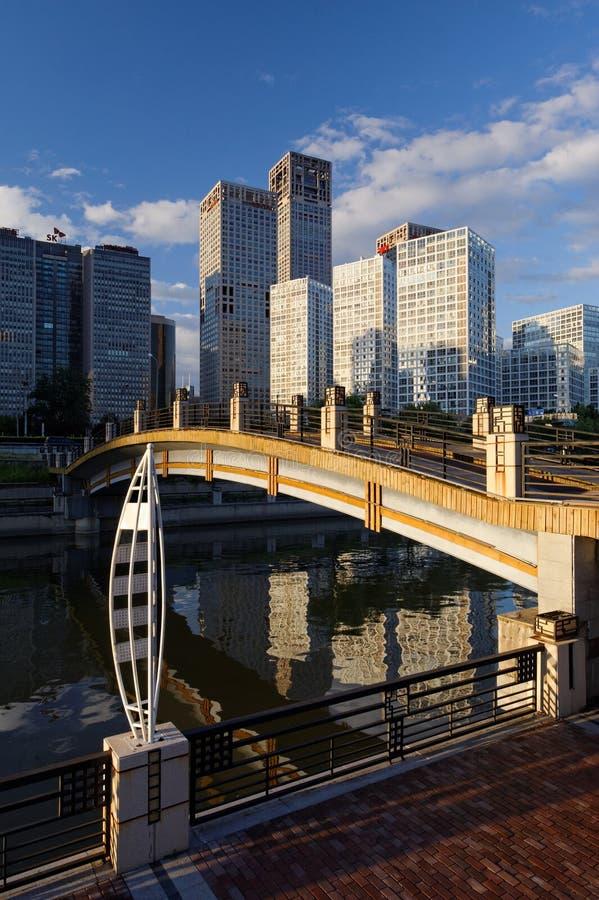 High-rise gebouwen rond CBD stock afbeeldingen