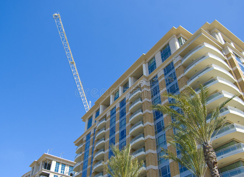 High rise living. High end luxury high end living in Irvine, California royalty free stock photos