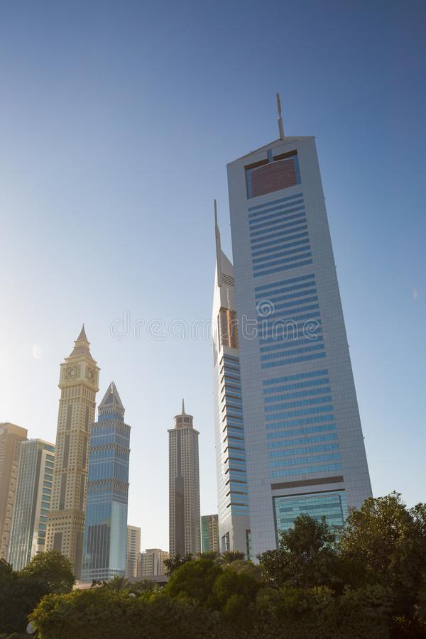 High rise and modern buildings in Dubai, UAE. stock image