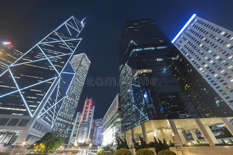 High rise modern office buildings stock photo