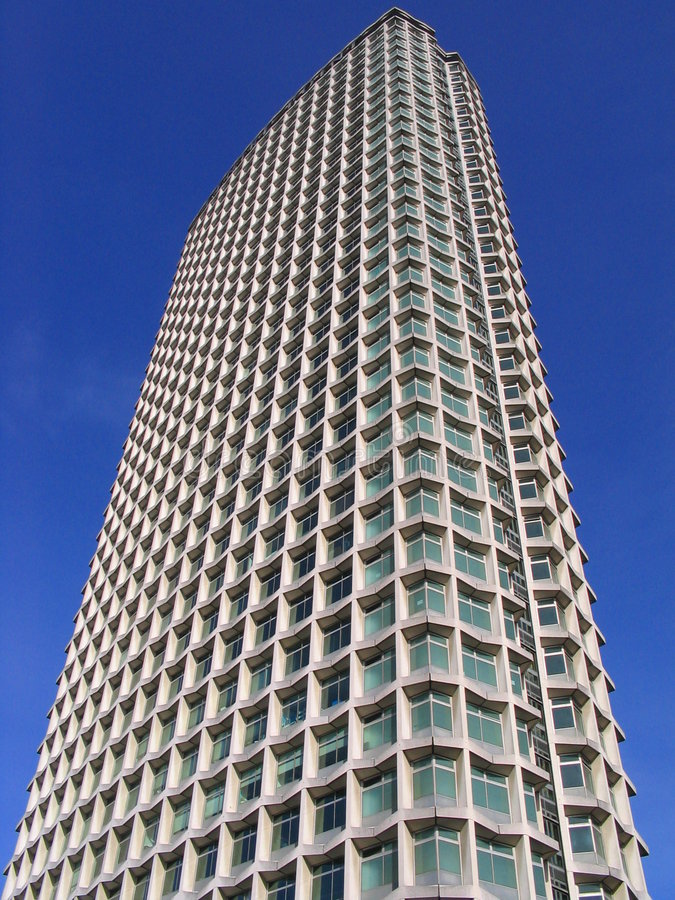 High rise office block, London, England. High rise office block in central London, England, typical of the 1970s architectural style, constructed to form a stock images