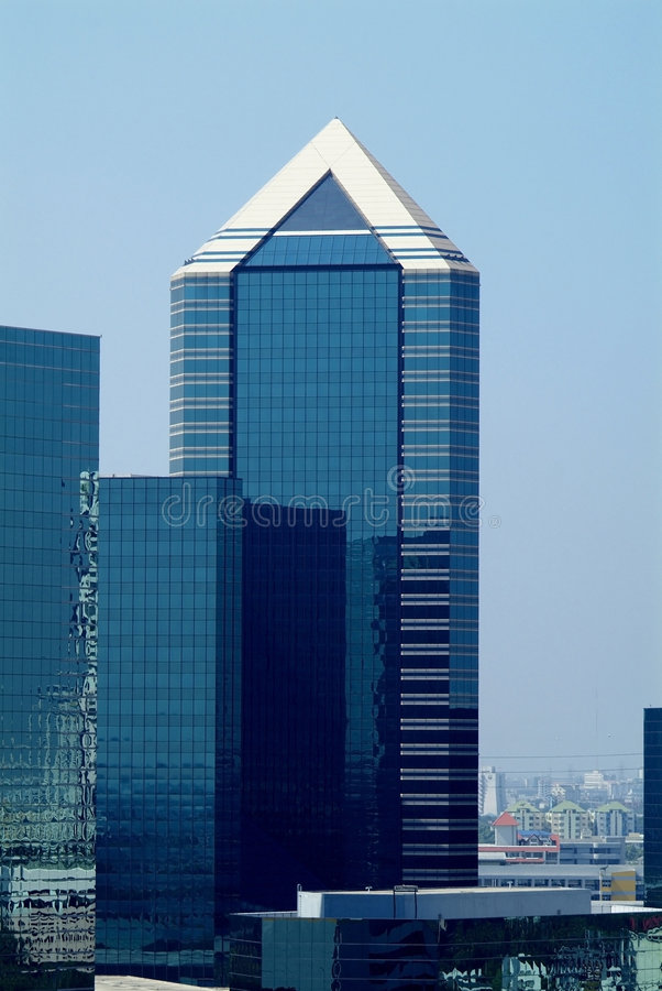 Download High-rise office building stock image. Image of pointed - 1655823