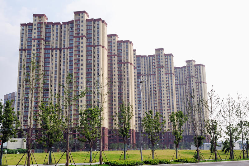 High rise residential building. In nanjing stock photo