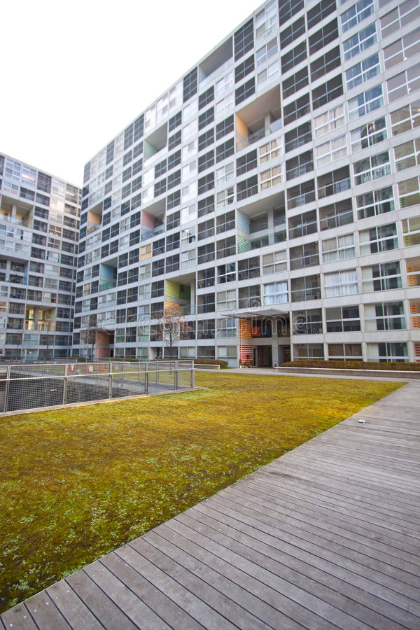 High Rise Residential Courtyard Stock Photos