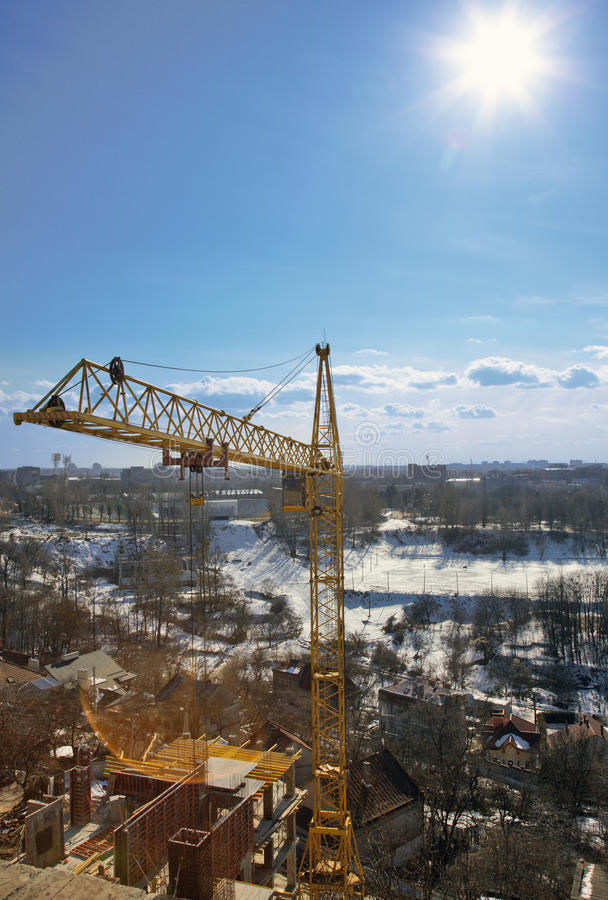 Download High-rise Tower Crane Stock Photography - Image: 13482542