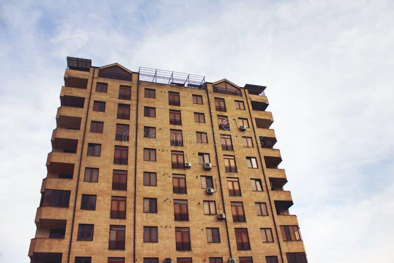 High-rise woningbouw, mening van onderaan royalty-vrije stock fotografie