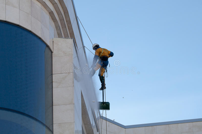 High-rise works. On construction modern building stock photography