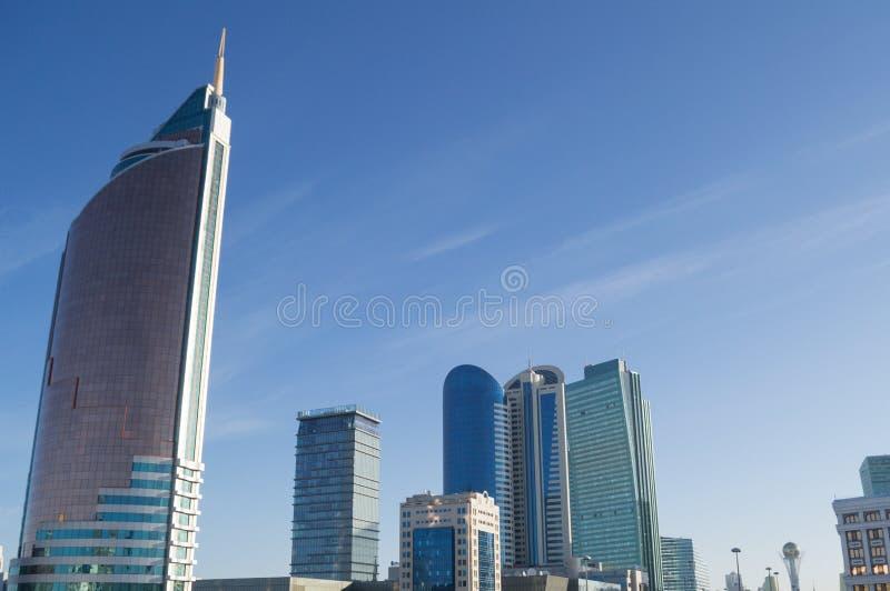 High-Rises in Astana, Kazakhstan during Daytime.  stock photo