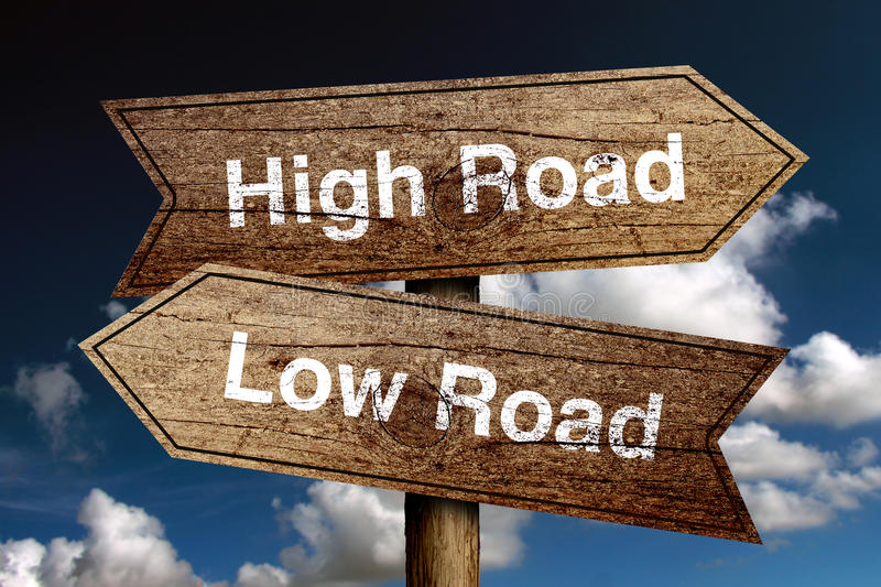 High Road And Low Road royalty free stock photography