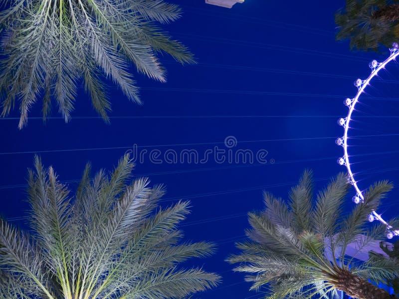High Roller - это крупнейшее в мире колесо наблюдения, расположенное в Лас-Вегасе, Неваде, Соединенные Штаты Америки стоковые фото