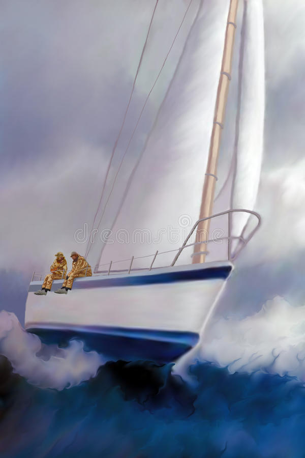 Download High Roller Sailing stock illustration. Image of cruise - 19169051