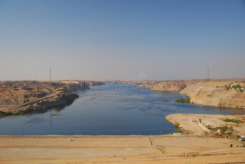 The high Sad el-Ali-Dam in Egypt. royalty free stock photo