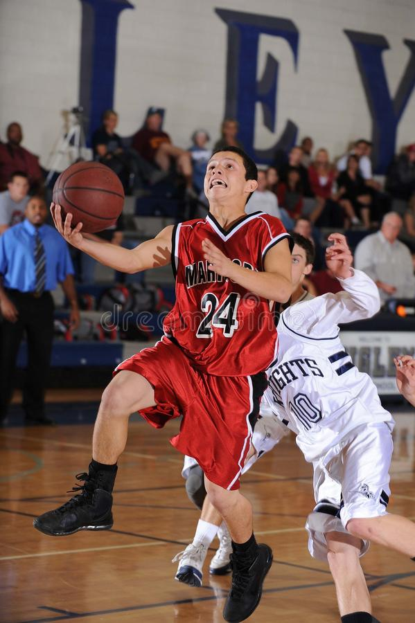 High School Boys Basketball royalty free stock images