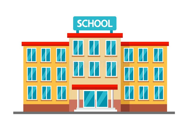 High school building royalty free stock photo