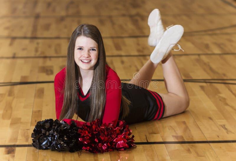 High School cheerleader portrait stock images