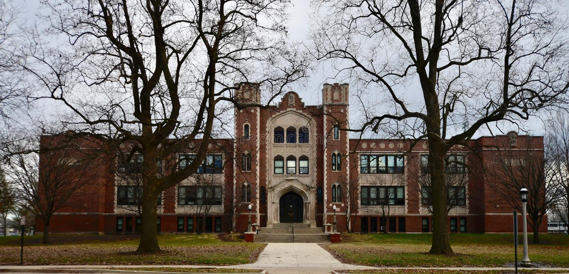 High School de Urbana fotografia de stock royalty free