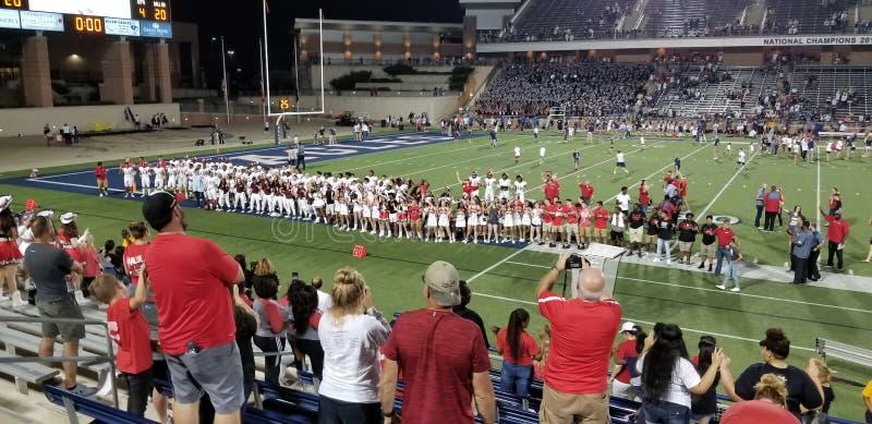 High school football game. High school football royalty free stock photos