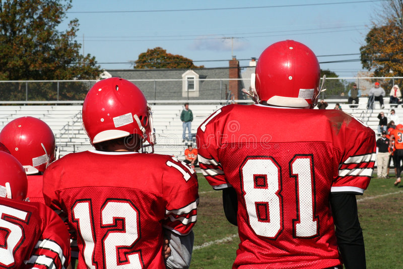 High School Football Team stock image