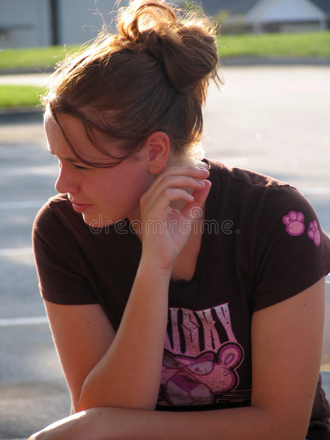 Download High School Girl stock photo. Image of waiting, people, female - 23030