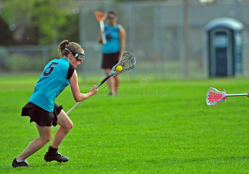High school girls lacrosse royalty free stock image