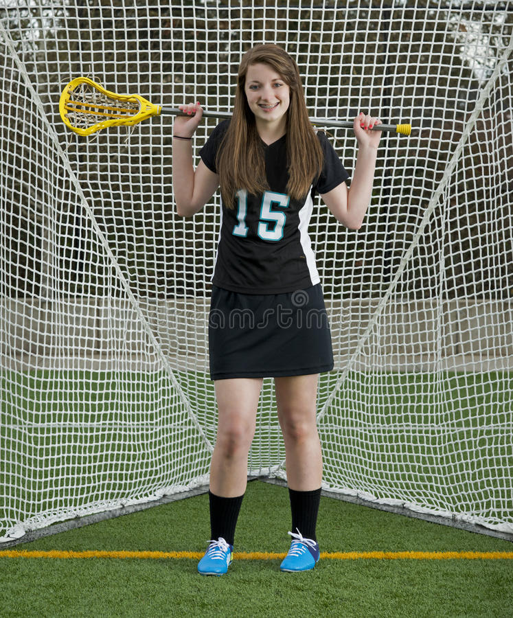 Download High School Girls Lacrosse Player Stock Image - Image: 30931807