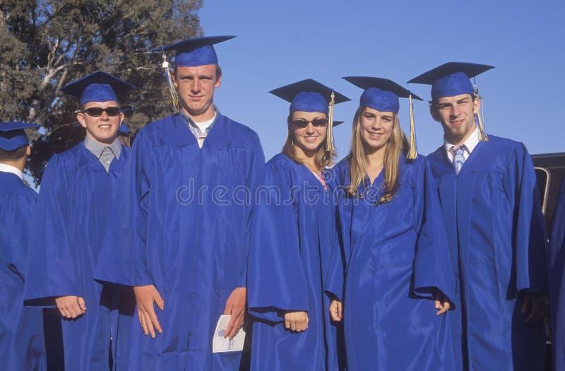 High school graduates stock images