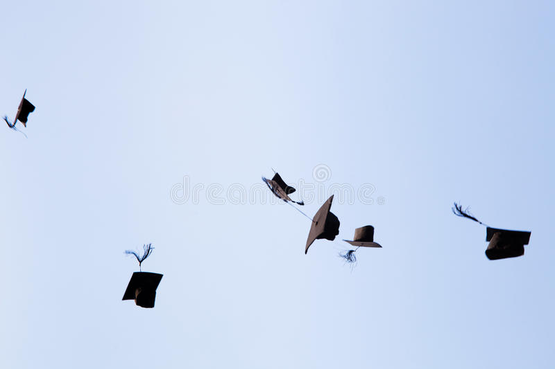 High school graduation hats. High stock images