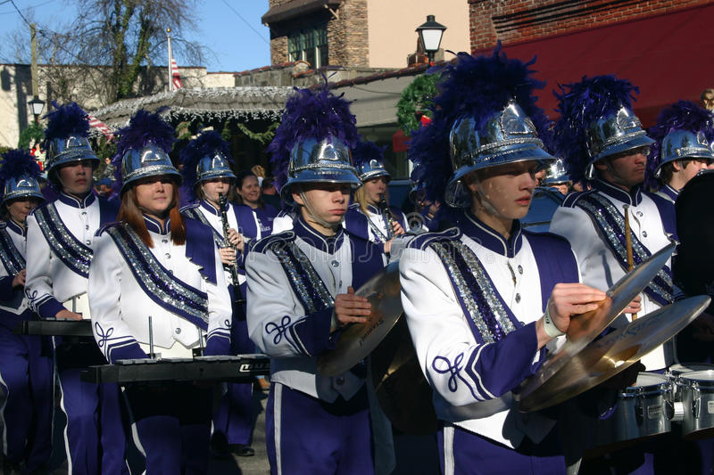High School Marching Band royalty free stock photos