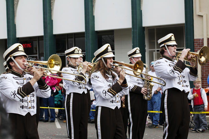 Download High School Marching Band Players Editorial Photography - Image of uniforms, band: 18773397