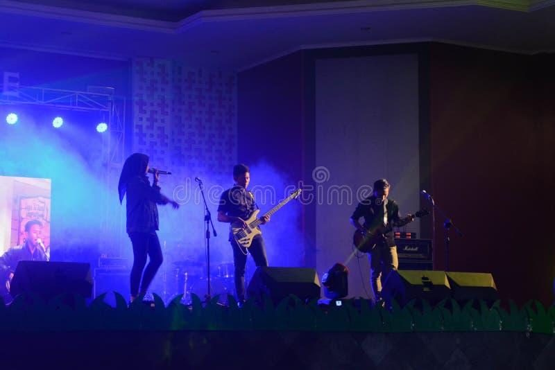 High School Musikleistungs-Bandwettbewerbe lizenzfreies stockbild