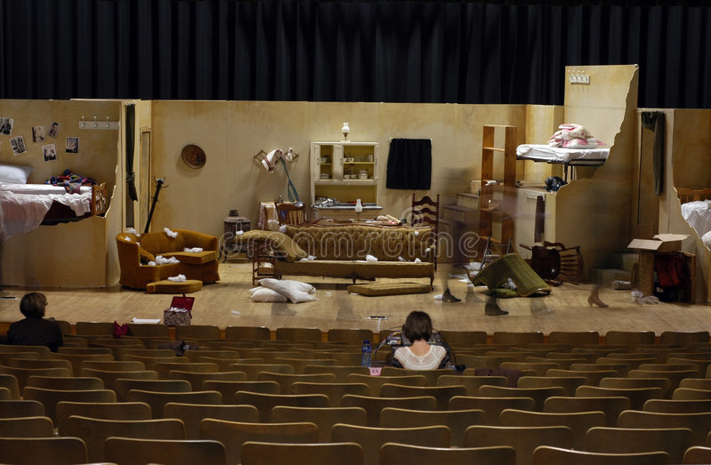 High School Play Stage Set stock image